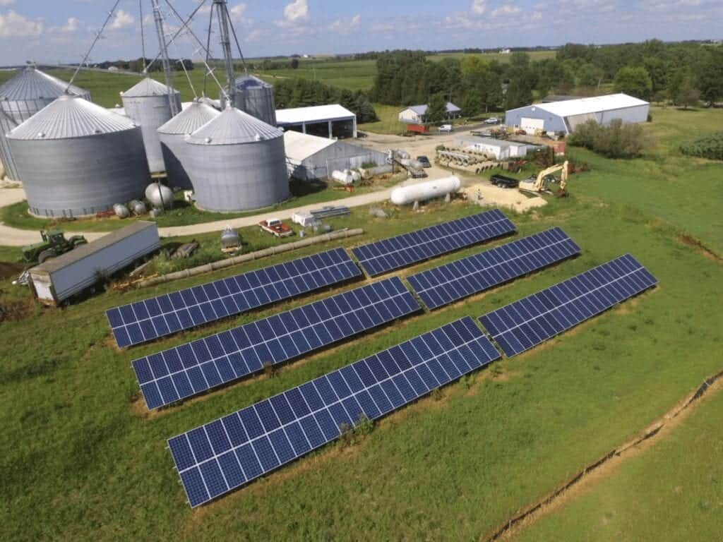 solar powered barn with lithium ion battery storage