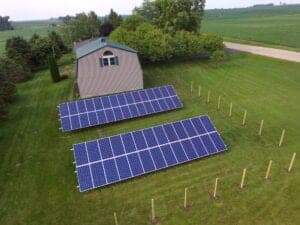 60 solar panels on ground mount
