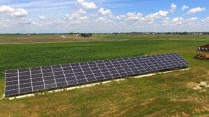 Groundmount solar array example