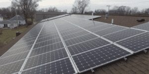 Install solar panels to reduce air pollution