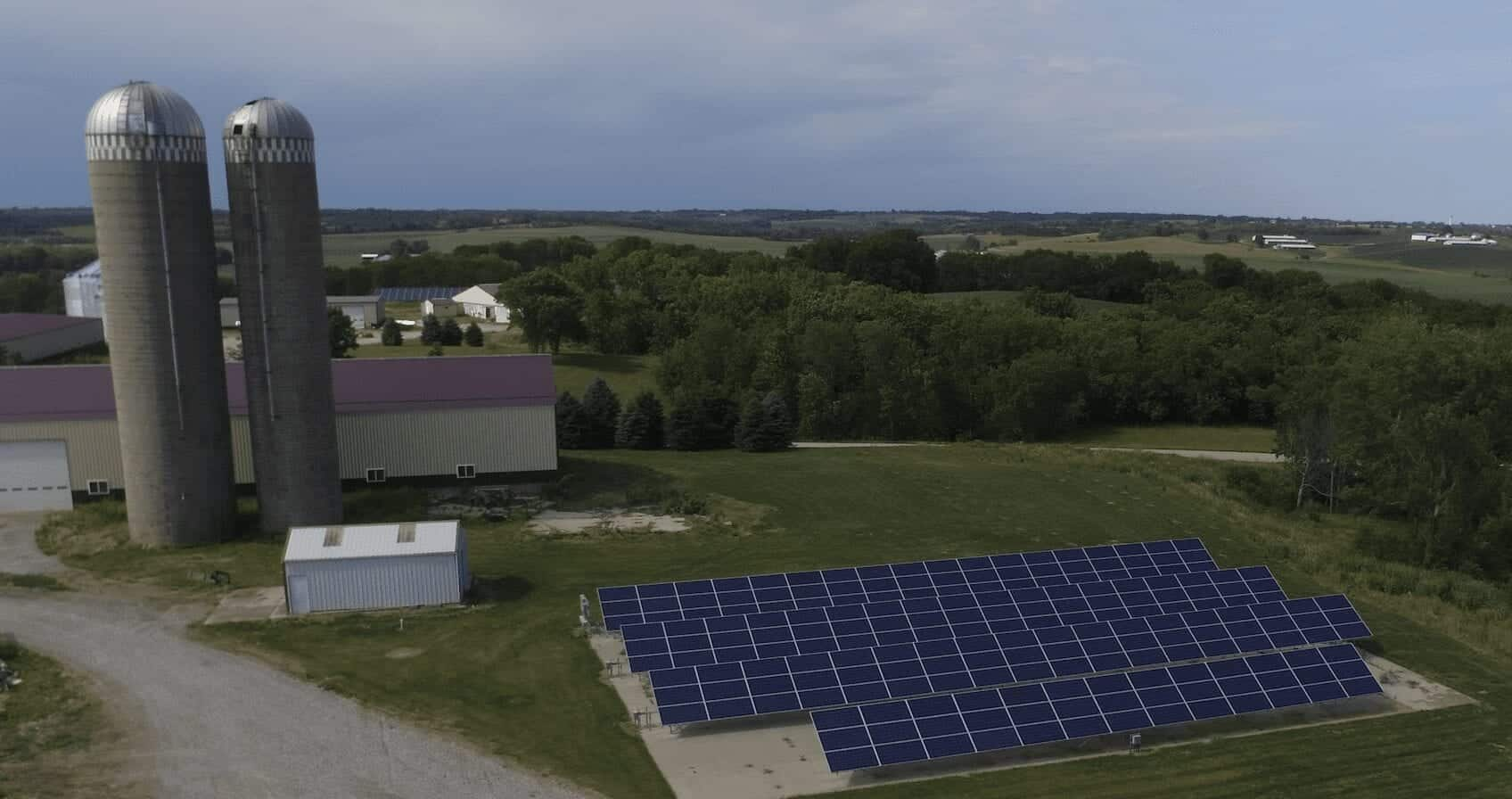 large ground mount solar system for farm use
