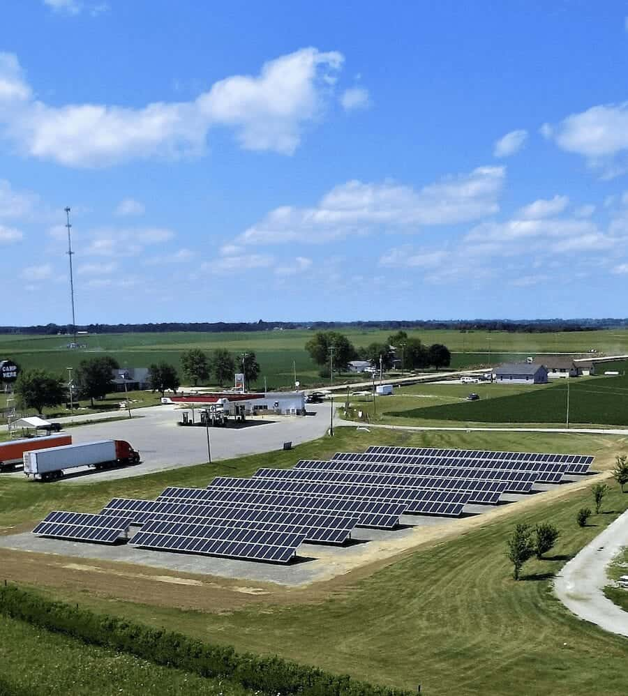 solar panel arrays in midwest