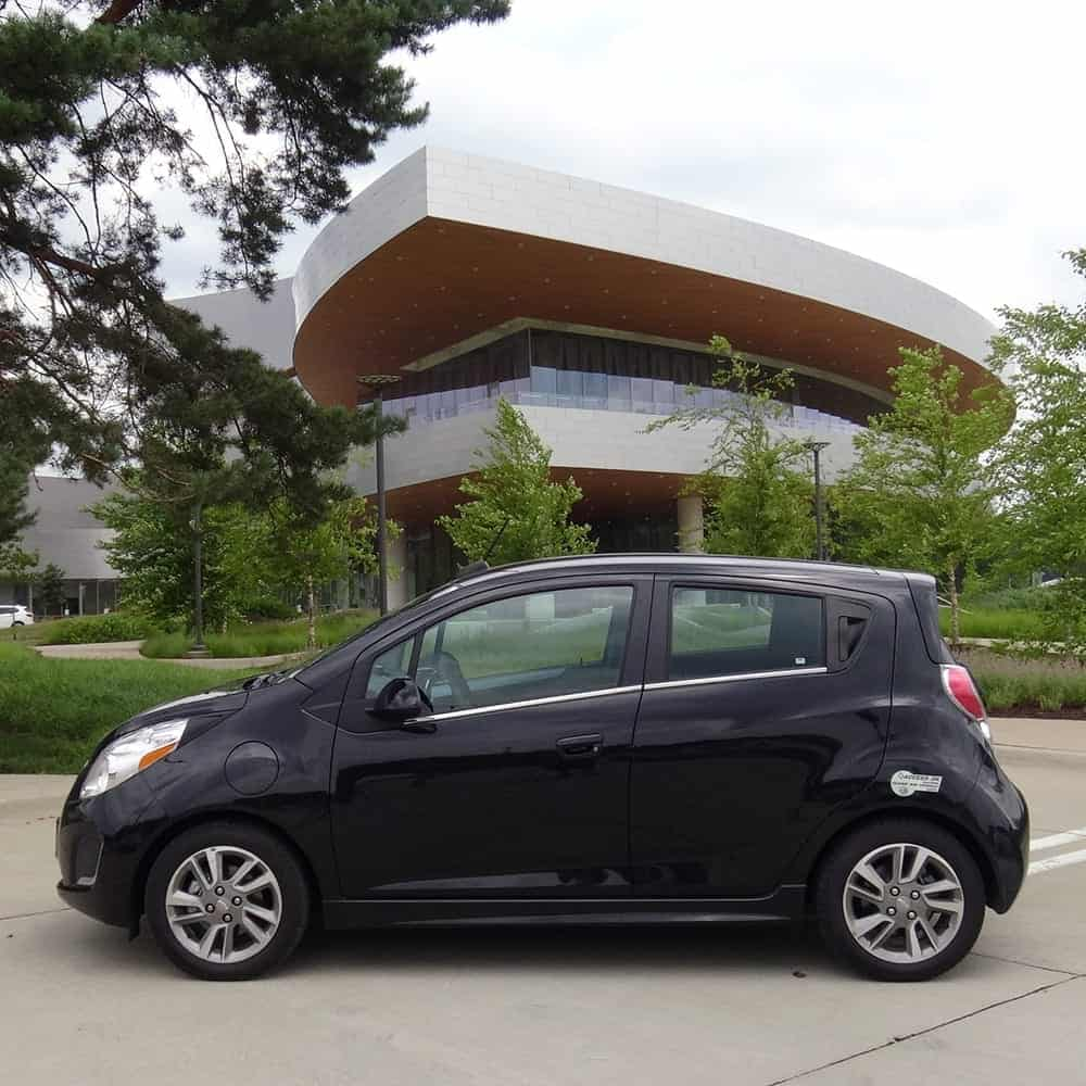 black chevy spark electric vehicle