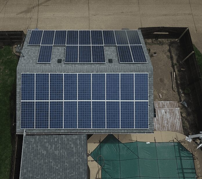 rooftop solar panels on home